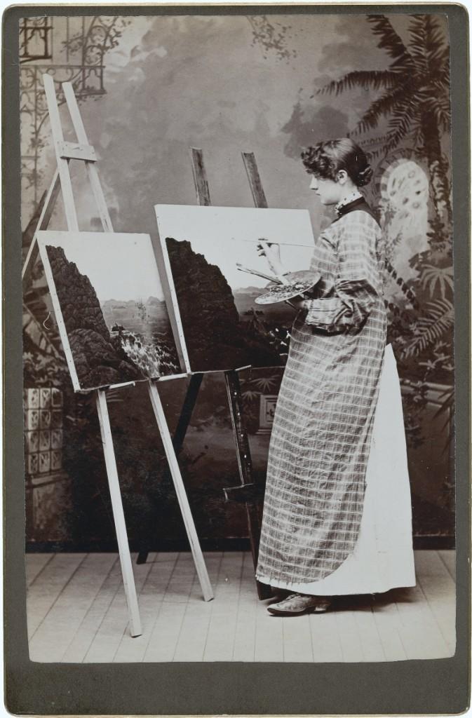 """[Painter]"" by unknown photographer, 1890s. Albumen silver print. William L. Schaeffer Collection."